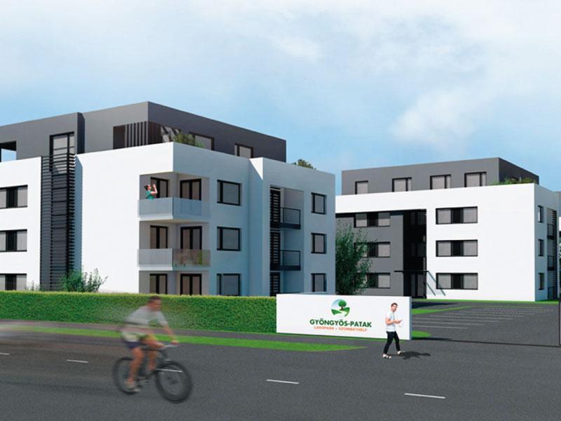134 lakásos társasház Szombathely