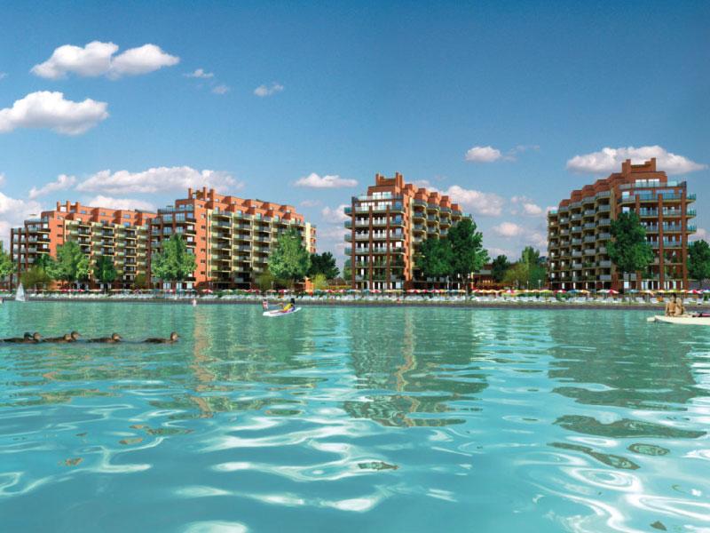 127 lakásos társasház Siófok