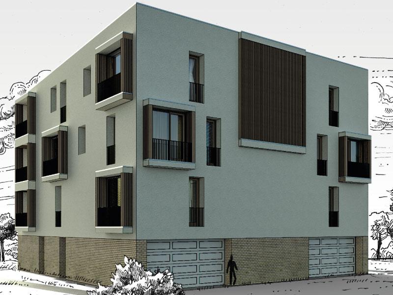 5×12 lakásos társasház Balatonfüred
