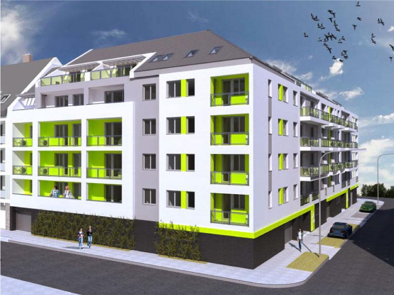 61 lakásos társasház Budapest