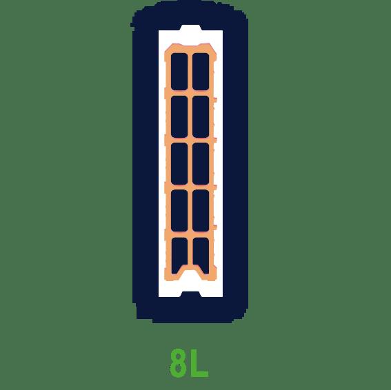 Laterbloc 8