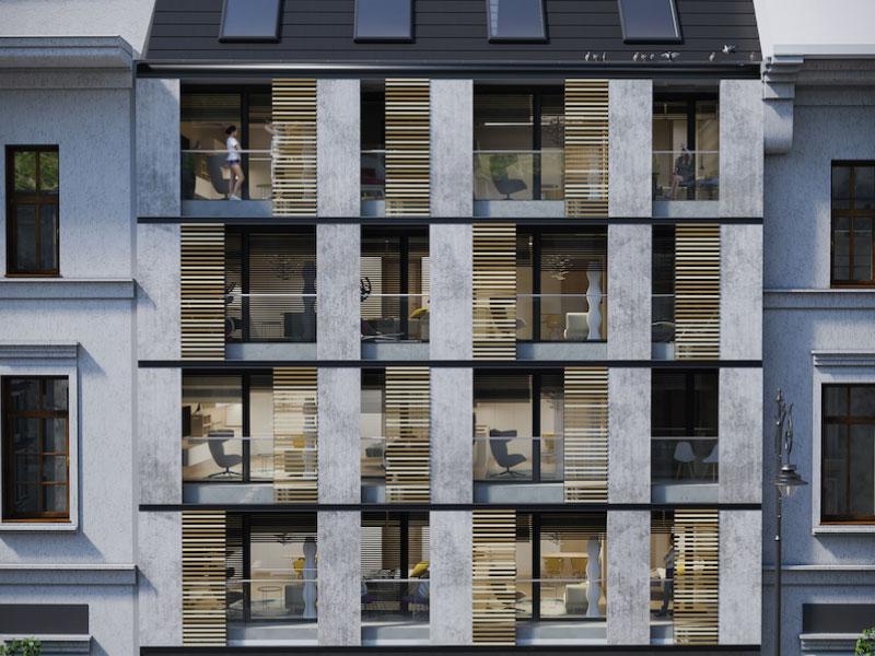 61 lakásos apartmanház Budapest