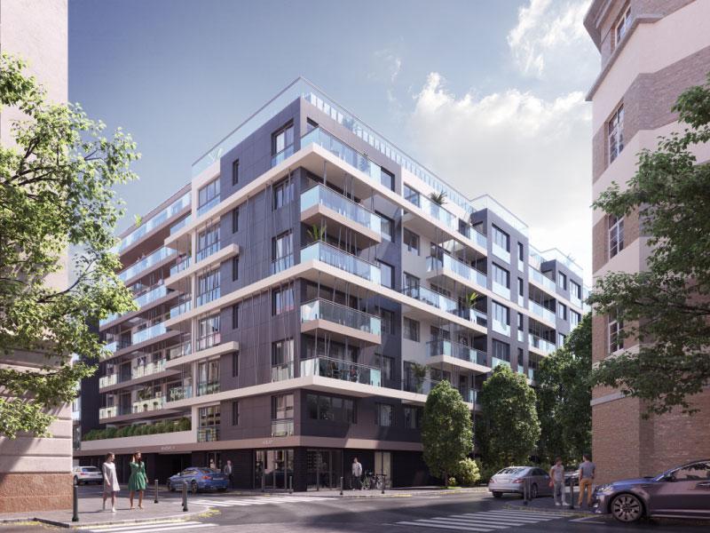 158 lakásos társasház Budapest