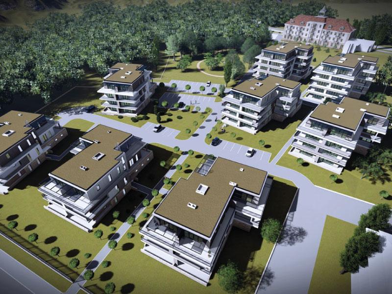127 lakásos társasház Balatonkenese