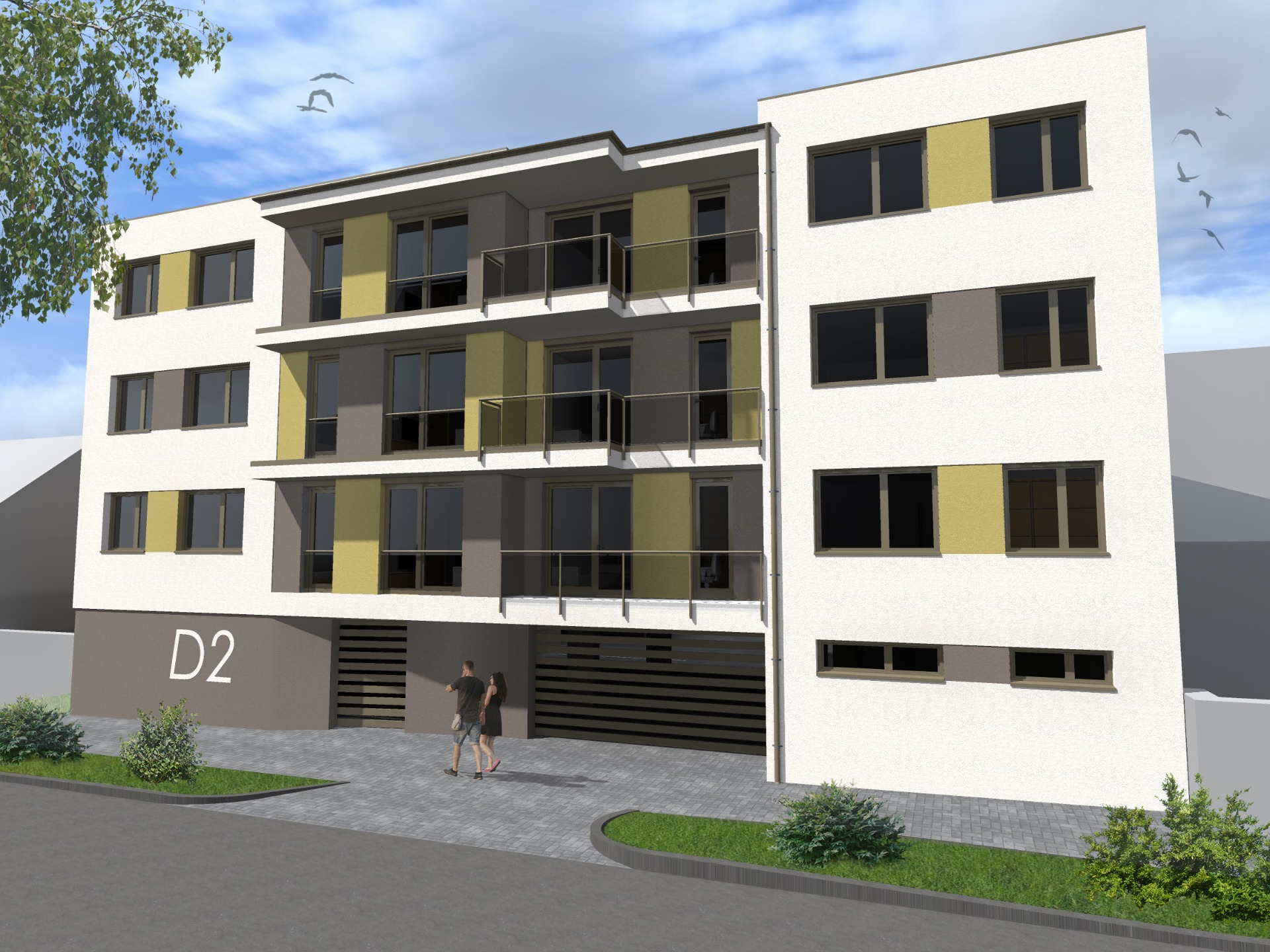 21 lakásos társasház Siófok