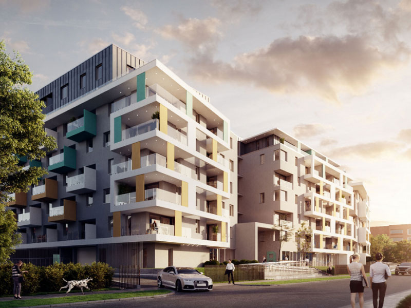 176 lakásos társasház Budapest-válaszfal